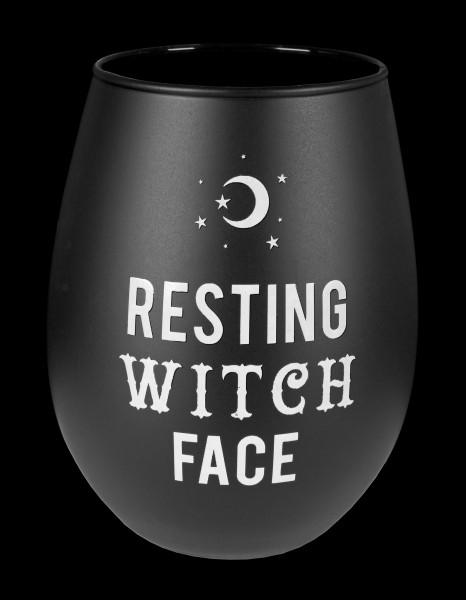 Schwarzer Weinbecher - Resting Witch Face