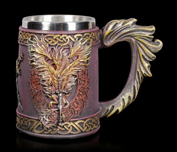 Dragon Tankard - Flame Blade