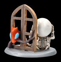 Skelett Figur - Lucky hört Eule