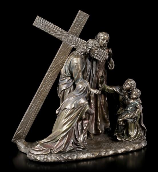 Jesus Figurine - Way of the Cross - bronzed