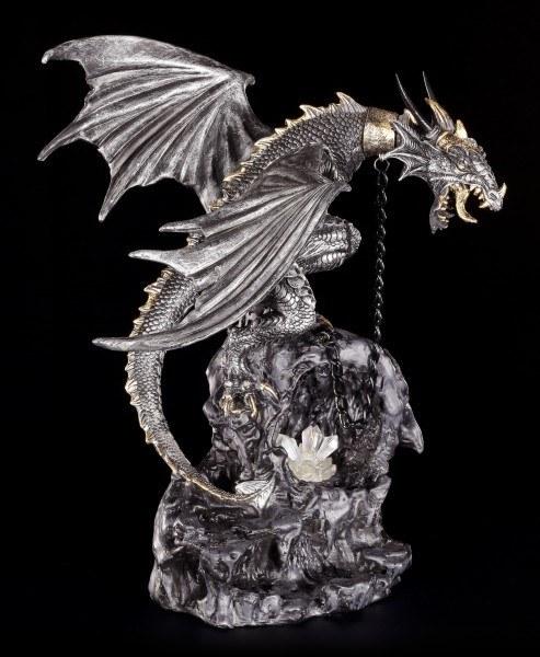 Drachen Figur angekettet - mit LED