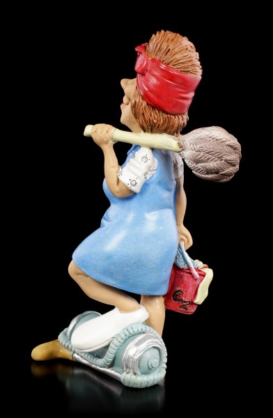 Funny Job Figurine - Cleaning Lady with Duster