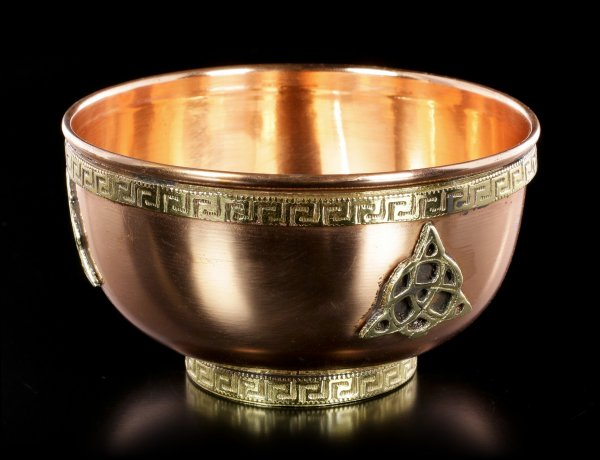 Ritual Copper Bowl - Triquetra medium