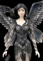 Large Dark Angel Figurine - Andra with Ravens