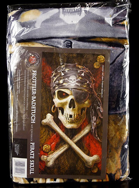Anne Stokes Frottier-Badetuch - Pirate Skull
