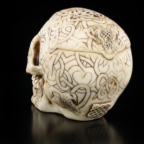 Tribal Celtic Totenkopf Aschenbecher - klein