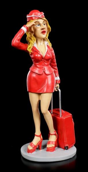 Funny Jobs Figur - Stewardess mit Koffer