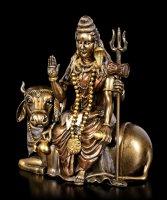 Shiva Figurine sitting on Nandi