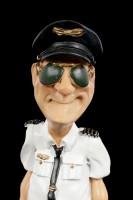 Funny Job Figurine - Pilot with Sunglasses