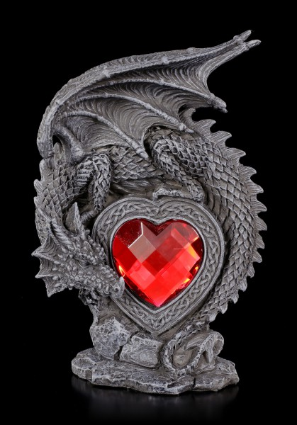 Dragon Figurine - Laetificat with red Heart