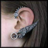 Ikarus - Alchemy Steampunk Ear-Wrap