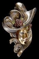Venezianische Maske - Rosa