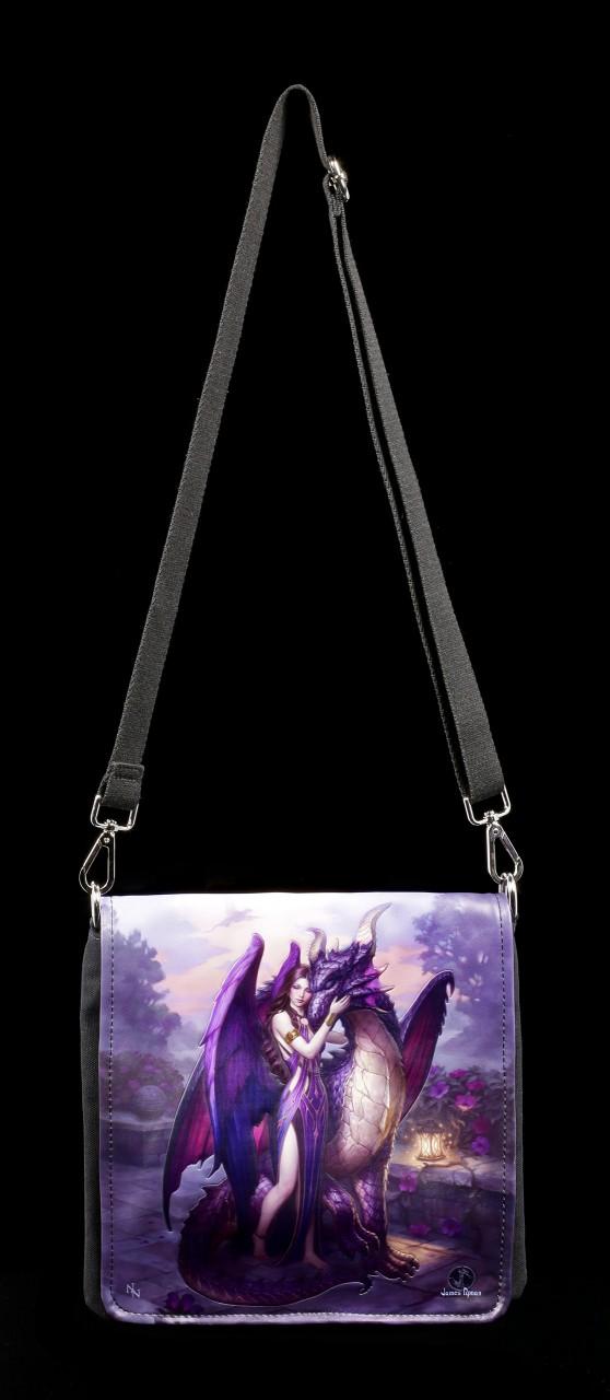 Schultertasche mit Drache - Dragon Sanctuary - geprägt