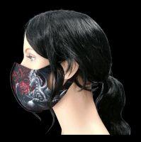 Gesichtsmaske Drache - Dragon Rose