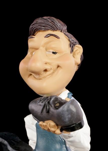Funny Job Figurine - Shoemaker looks at his Work