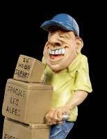 Funny Jobs Figur - Lachender Paketdienstler