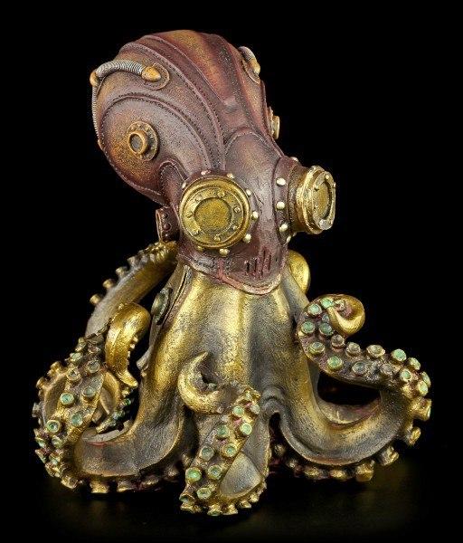 Steampunk Octopus Figurine