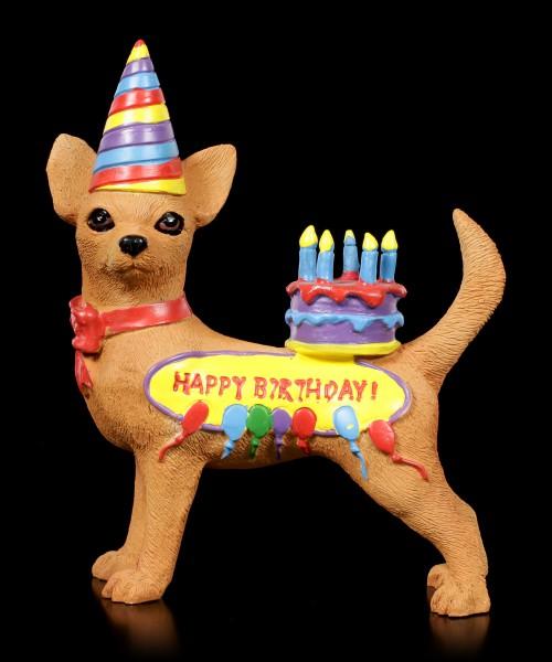 Funny Dog Figurine - Happy Birthday Chihuahua