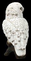 White Snow Owl Figurine on Limb