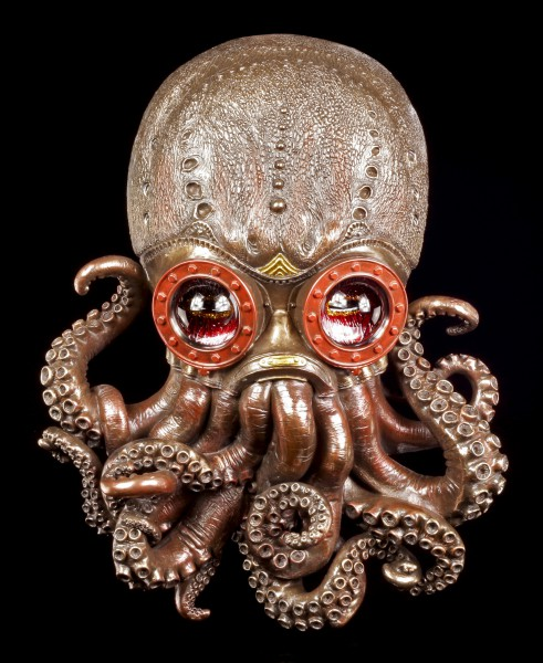 Wandrelief Steampunk Oktopus - Bioctopus