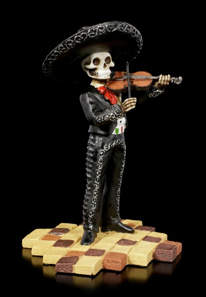 Skeleton Figurine - Mariachi Band Violin