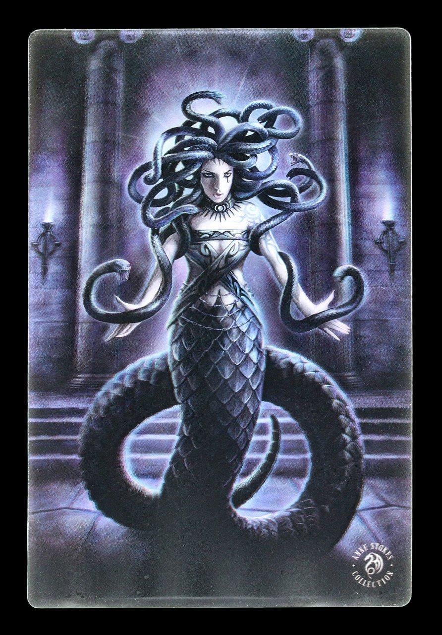 3D Postkarte mit Medusa - Serpents Spell