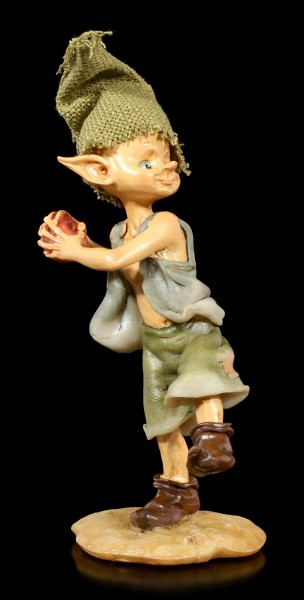 Pixie Goblin Figurine throws Apple