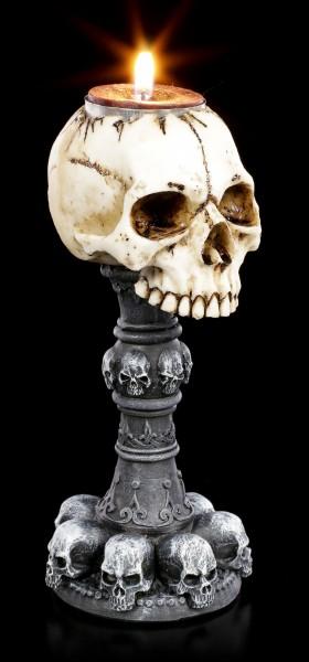 Totenkopf Teelichthalter - Torch of Torture