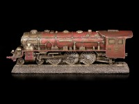 Red Railway Locomotive Figurine