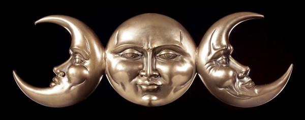 Wicca Wandrelief - Dreifaltige Mond Göttin