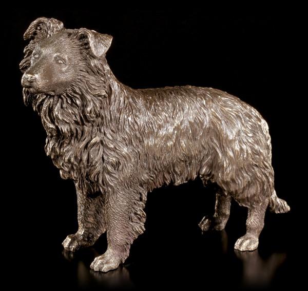 Hunde Figur - Border Collie - bronziert