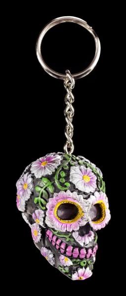 Keyring - Sugar Petal Skull