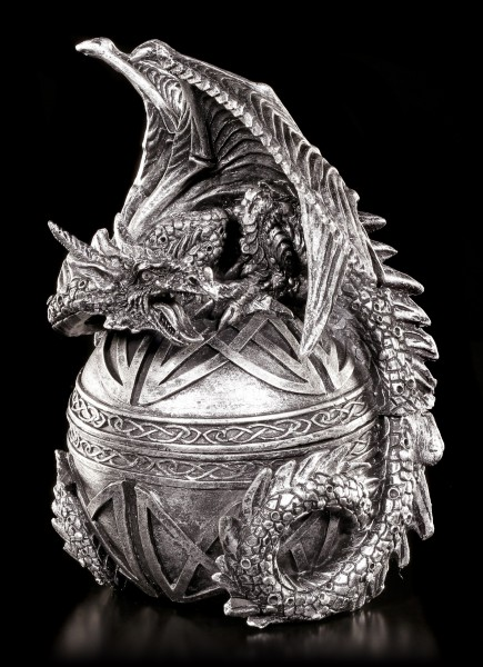 Box - Dragon on Ball - Black-Silver