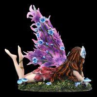 Elfen Figur - Ara mit Blumen-Flügeln