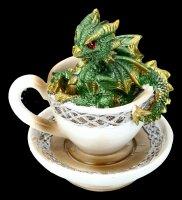 Drache in Tasse Figur - Dracuccino - grün