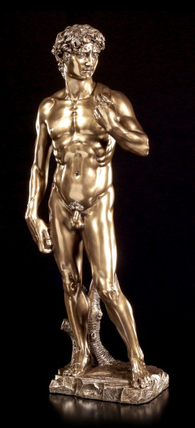 Large David Figurine by Michelangelo - bronzed