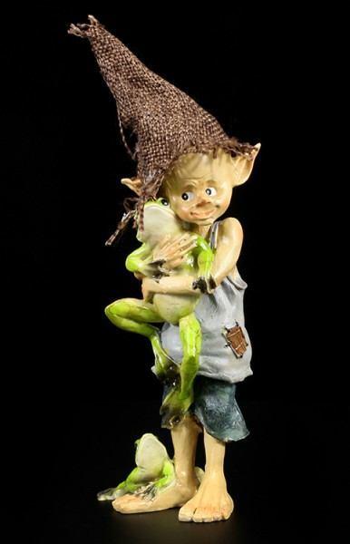 Pixie Kobold Figur - Mein Freund der Frosch