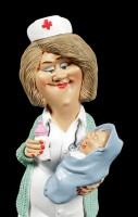 Funny Job Figur - Hebamme mit Baby