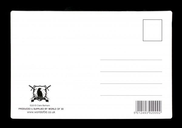 3D Postkarte mit Wolf - Wolfbane