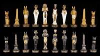 Chessmen Set - Egypt Gold and Black