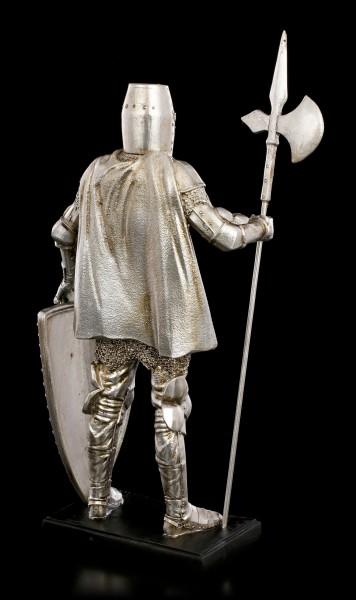 Knight Figurine - Spear & Shield on Pedestal