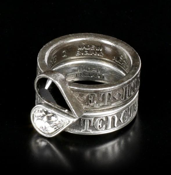 Alchemy Herz Ringe Set - Twin Heart Promise