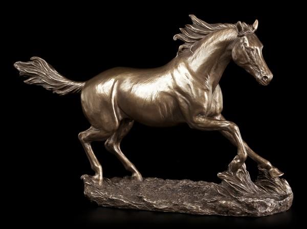 Pferde Figur - Laufend bronziert