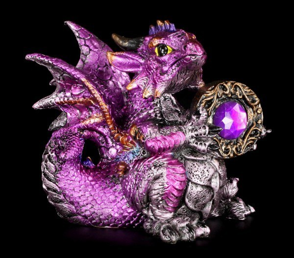 Dragon Figurine - Amethyst Dragonling