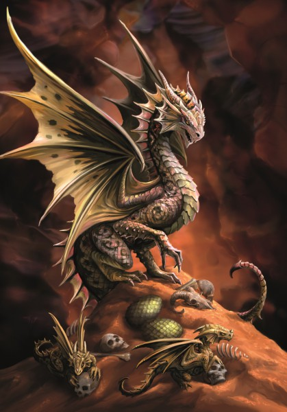 Drachen Grußkarte - Age Of Dragons - Desert Dragon