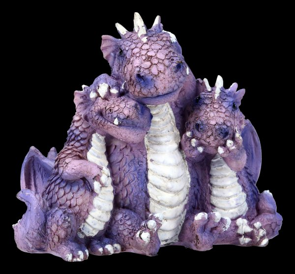 Cute Dragon Figurine - No Evil... - purple
