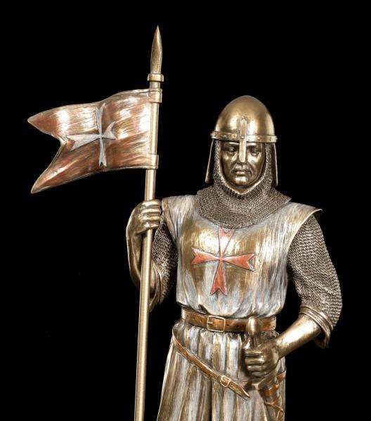 Ritter Figur - Deutscher Kreuzritter mit Banner