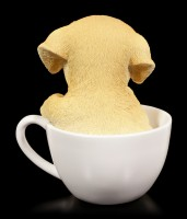 Hunde Figur - Labrador Welpe in Tasse