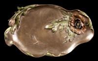 Jugendstil Schale - Libelle mit Blume
