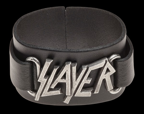 Slayer Leather Wriststrap - Alchemy Rocks